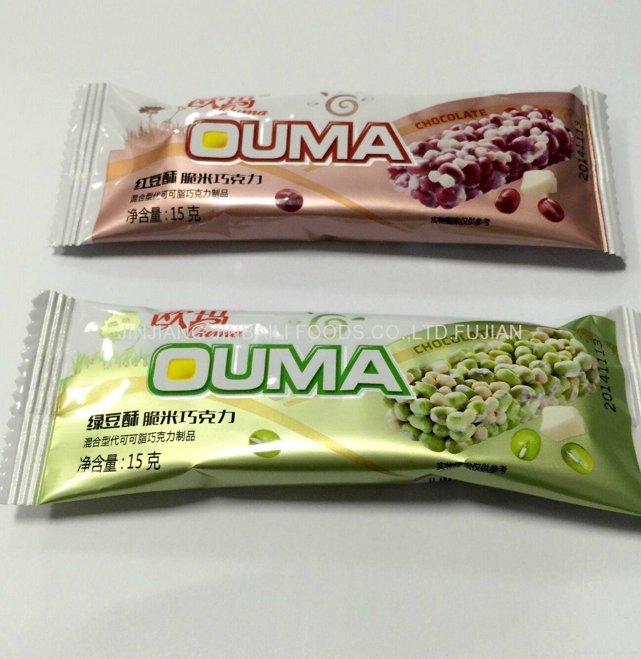 healthy crispy red bean flavor rice stick cracker 15g 1