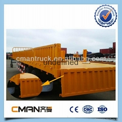 China new Bulk Cargo Transport 3axles small box new semi trailer price