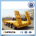 china 3 alxe low bed semi trailer for
