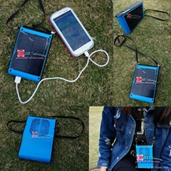 Solar Fan With Solar Charger Panel for Running Walking Outside Sports