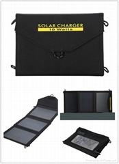 10 watt folding portable solar charger pack bag for mobile phone tablet camera