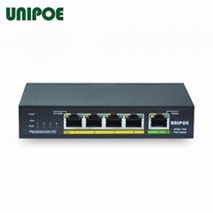 Save-cost 1 60W PD+ 4PSE port Gigabit Ethernet UNIPOE PoE Switch
