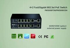 New product 4+2 port Gigabit 802.3at PoE