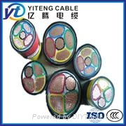YJV CU Conductor XLPE Insulated PVC Sheathed Power Cable