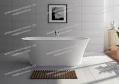 Jingzun Freestanding Composite Resin bathtub Artificial Stone tub
