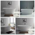 Jingzun Cultured Freestanding  Bathtub Solid Surface Bathtub  5