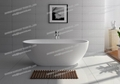 Jingzun Cultured Freestanding  Bathtub Solid Surface Bathtub  1