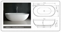Jingzun Cultured Freestanding  Bathtub Solid Surface Bathtub  4