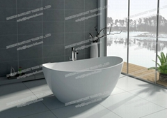 Jingzun Freestanding Solid Surface Bathtub