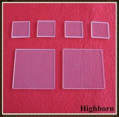 Clear quartz glass plate