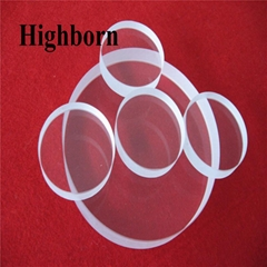 Clear polish round fused quartz plate