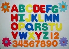EVA 泡绵字母数字背磁组