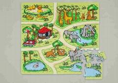 81-piece EVA foam Zoo puzzle mat