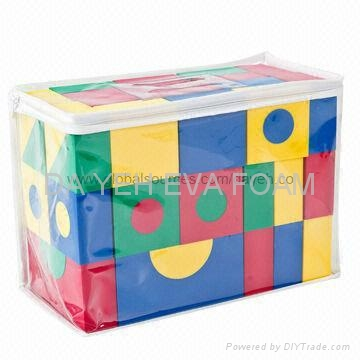Creative Colorful EVA Foam Building Blocks, 4cm,68pcs 2