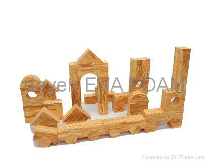EVA Foam 木紋積木,5cm, 40 piece 2