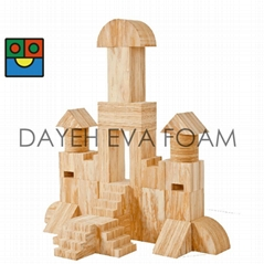 Creative Wood-like EVA Foam Castle block set-34piece