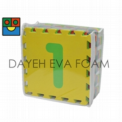 "Number EVA Foam Mat , 0-9 ,  12"" x 12"", 15 mm"