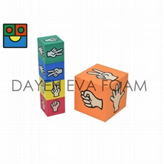 EVA Foam Finger-Guessing Game Dice, Set of 5