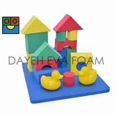 EVA Foam Bath Toy Blocks Set, Set of 16