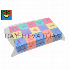 EVA Foam educational Alphabet & Numbers  Blocks, Set of 15
