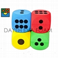 Elastic Curved EVA Foam dice Set , Dots