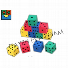 EVA Foam Colorful Dice Set - 4 cm, Set of 12