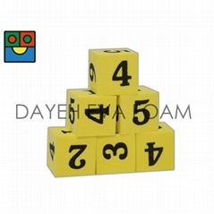 EVA Foam Dice- 20 mm, Number 1-6, Set of