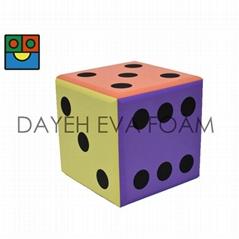 EVA 泡綿六色大骰子-20cm(點數1-6)
