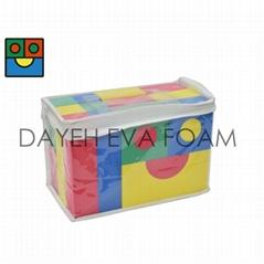 Creative Colorful EVA Foam Building Blocks, 4cm, 30 pcs