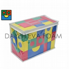 Creative Colorful EVA Foam Building Blocks, 4cm,68pcs