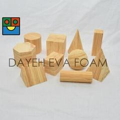 EVA 泡绵木纹几何型, 5 cm , 10 piece