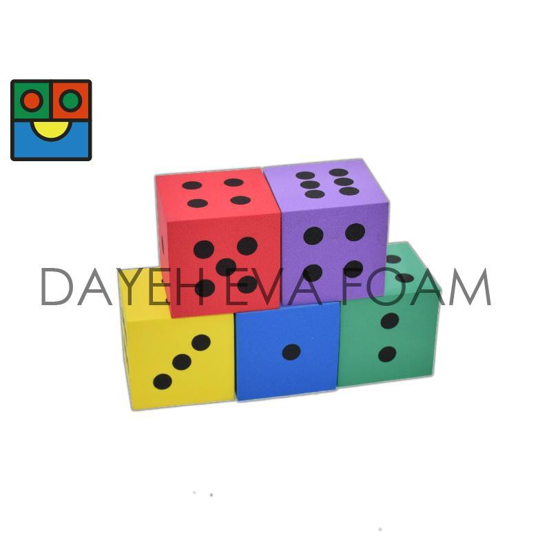 EVA 泡綿骰子- 7 cm , 點數1-6 1