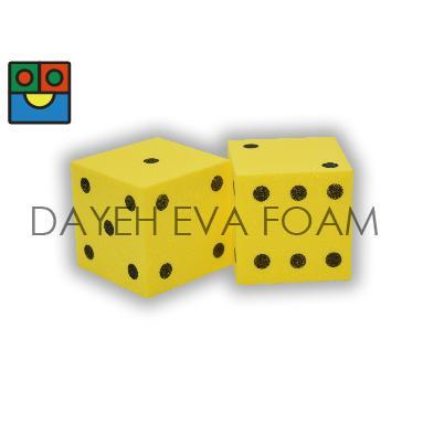 EVA 泡綿骰子-5cm(點數) 1