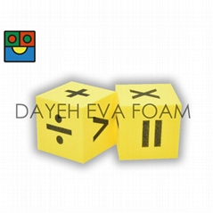 EVA Foam Dice-5 cm , Operation ,Yellow