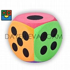 EVA 泡绵圆角大骰子-20 cm , 点数1-6