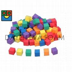 Foam Color Cube blocks,100pcs.,PP bag