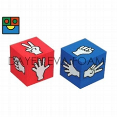Jumbo Finger-Guessing EVA Foam Dice -12 cm, Set of 2