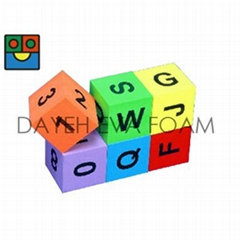 Giant EVA Foam Alphabet Cube Set-8 cm, Set of 6