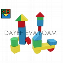 Giant Neon EVA Foam Building Blocks,12cm, 18pcs