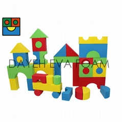 Jumbo Neon EVA Foam Building block ,40 PCS.