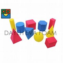 EVA 泡绵彩色几何型, 5cm , 10 piece