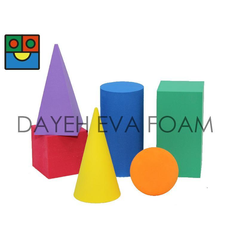 EVA 泡綿彩色幾何型, 7cm, 6 piece 1