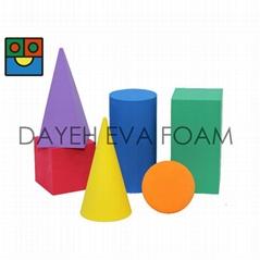 EVA 泡綿彩色幾何型, 7cm, 6 piece
