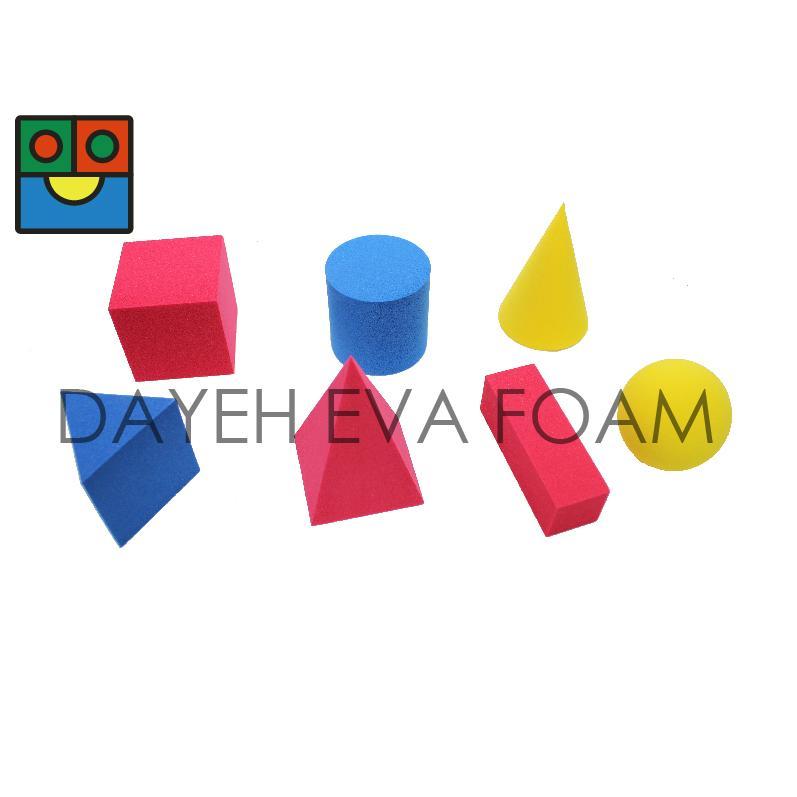 """EVA Foam Geometric Solid Block set, 2"""", 7 piece 1"""
