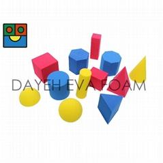 EVA 泡绵彩色几何型 ,5cm, 12 piece