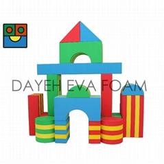 Jumbo Stripe EVA Foam Building Block,20cm,16 piece