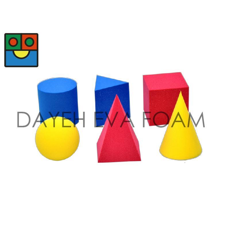 EVA 泡綿彩色幾何型, 5cm, 6 piece 1