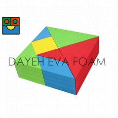 Huge EVA Foam Tangram Blocks, 7 piece