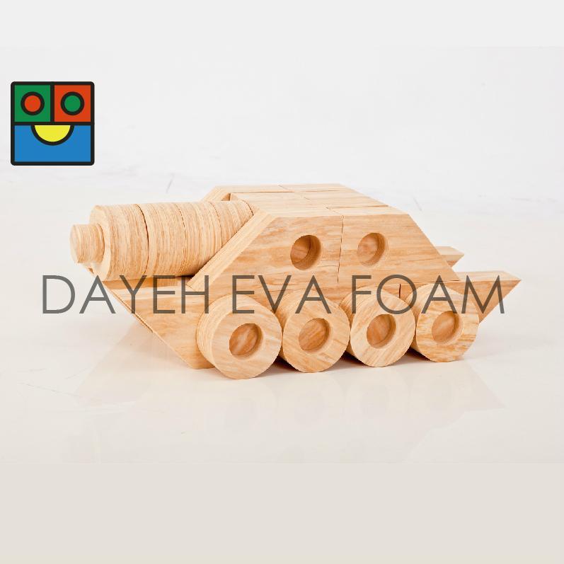 Joint Wood-like EVA Foam Building Blocks ,118 piece 1