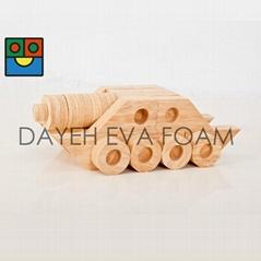 EVA 木纹连结创意积木,4cm, 118piece